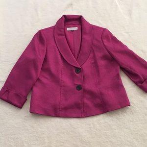 TAHARI purple blazer jacket